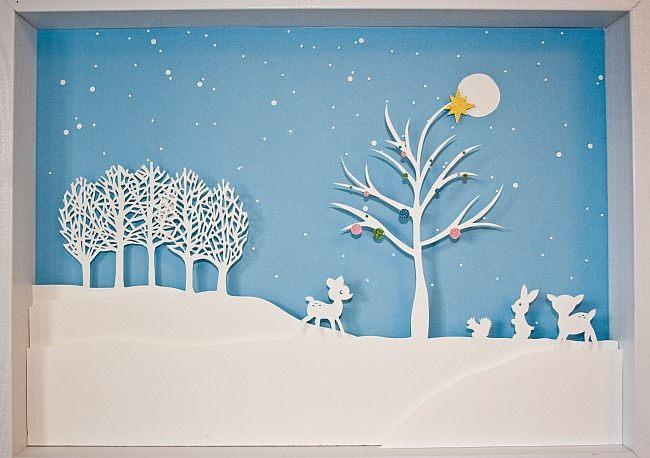 Картина зима своими руками