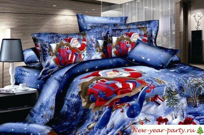 Новогоднее постельное белье - 20 фото самых удачных вариантов
