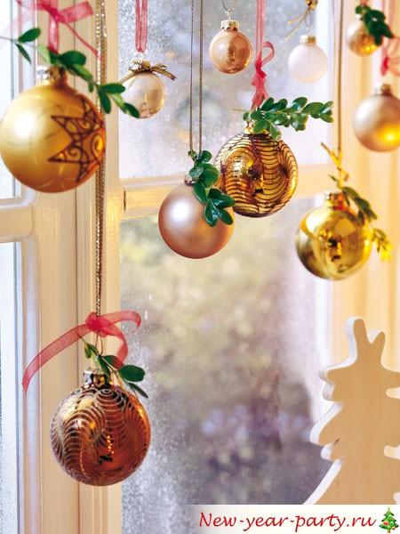 Украшение на окно на новый год 2018