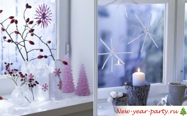 Как можно украсить окна на Новый год