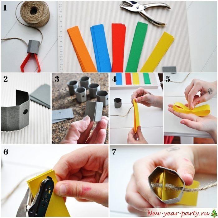 Изготовление фонариков из цветной бумаги
