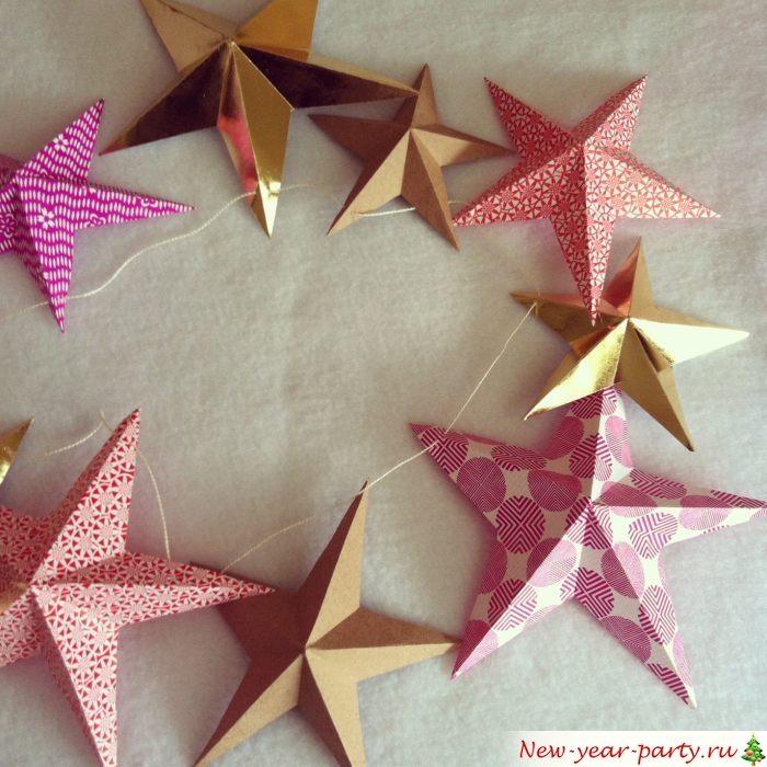 Красивое украшение из звезд