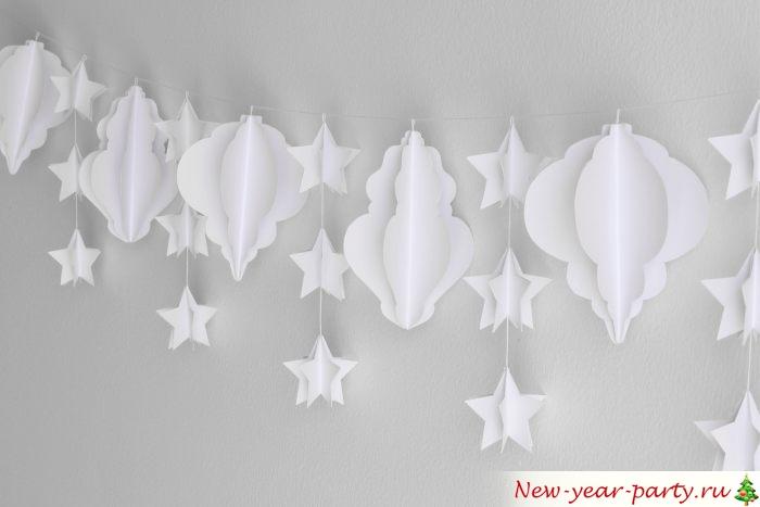 Воздушное украшение для новогоднего интерьера
