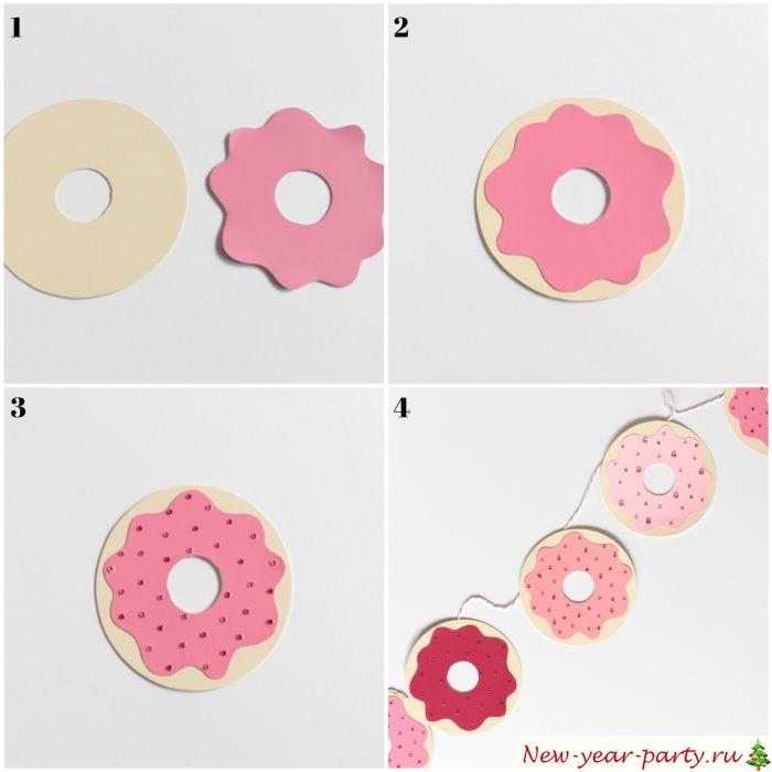 Как сделать картонные пончики?