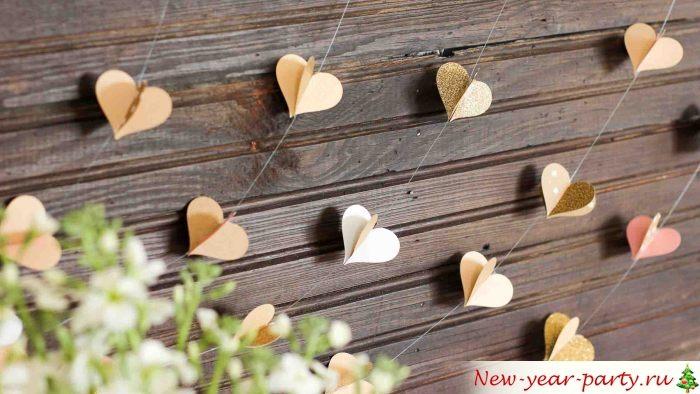 Сердечки для украшения дома