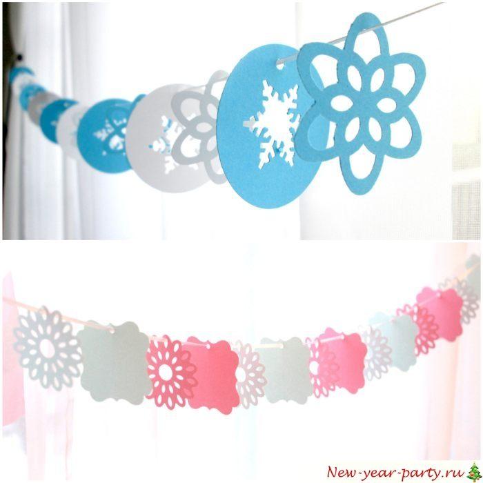 Снежинки для праздничного декора