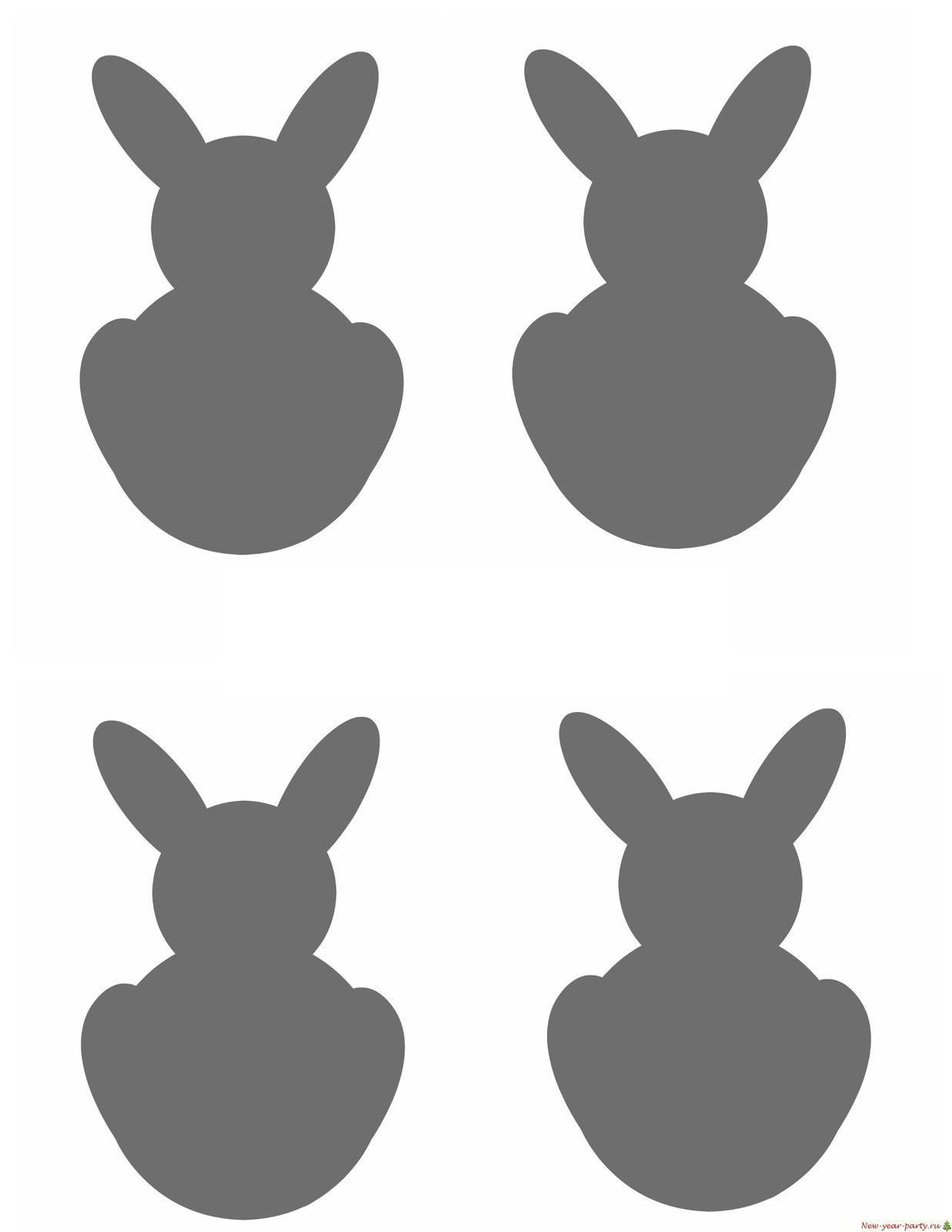 Шаблон зайчиков для печати