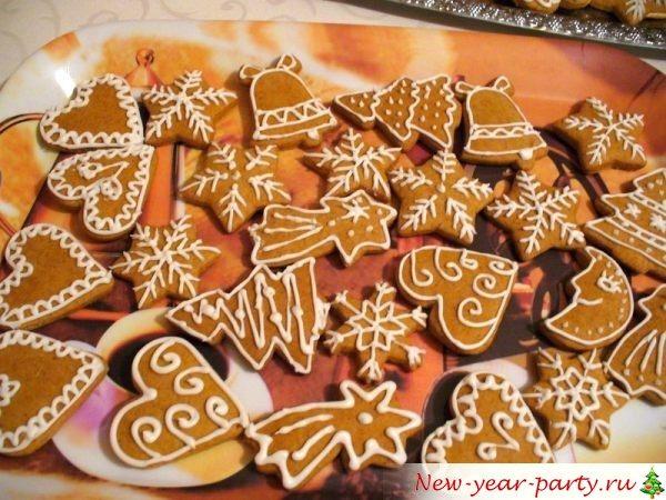 Рецепт имбирных новогодних пряников