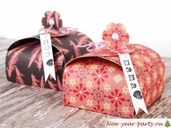 Красивые новогодние коробочоки для детей и взрслых