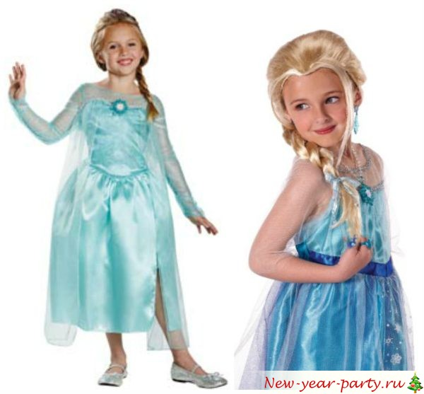 Новогодний костюм Эльзы из Холодного сердца