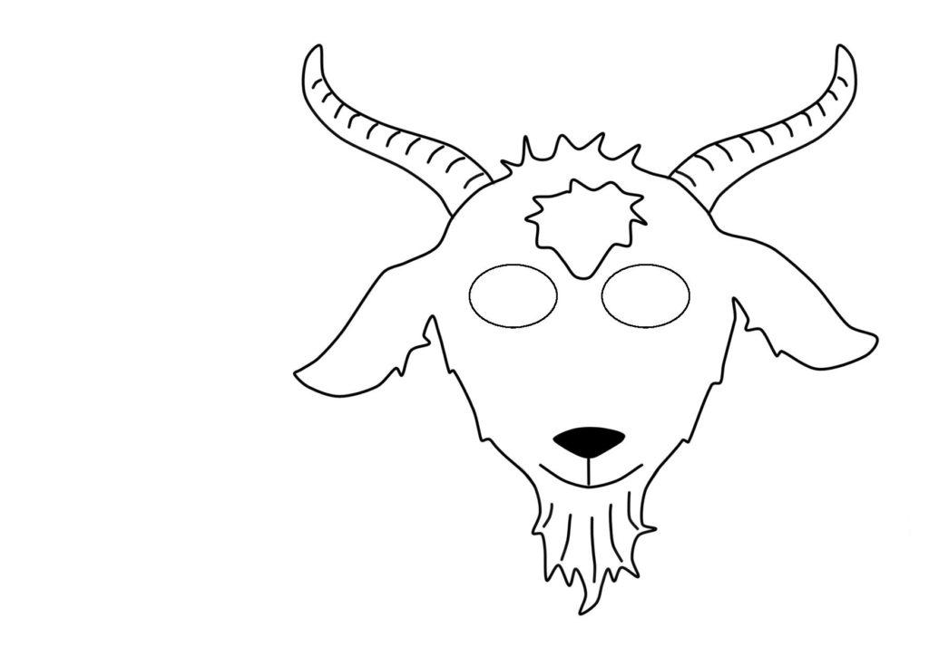 Маски Коня, Ослика, Овечки, Козлика, Барашка (из бумаги на голову)