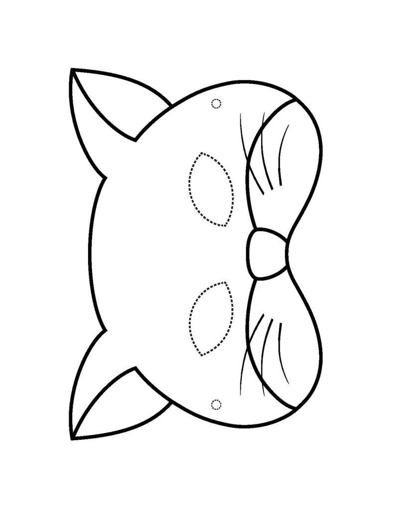 Как сделать своими руками маску котенка