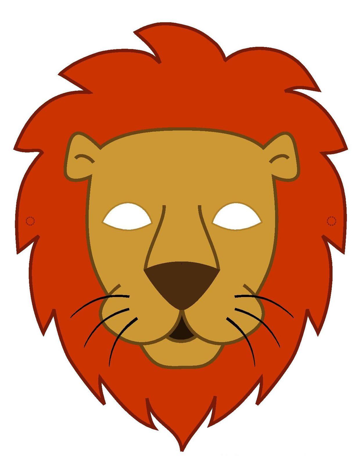 Маска Льва из бумаги (на голову), скачать и распечатать шаблон - photo#34