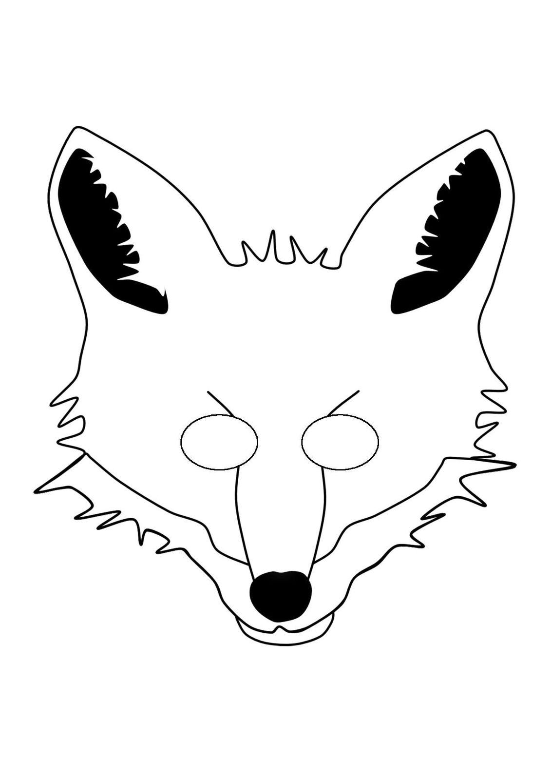 маска лисы бесплатные шаблоны для распечатки