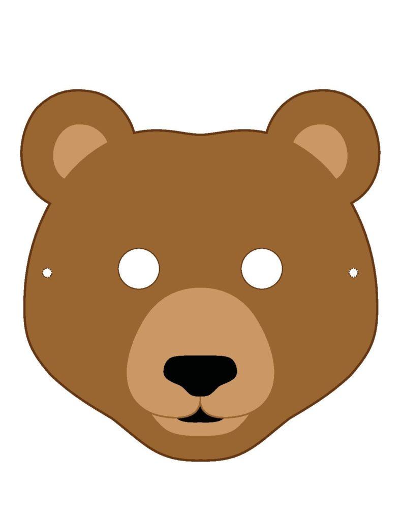 Маска медведя для распечатывания