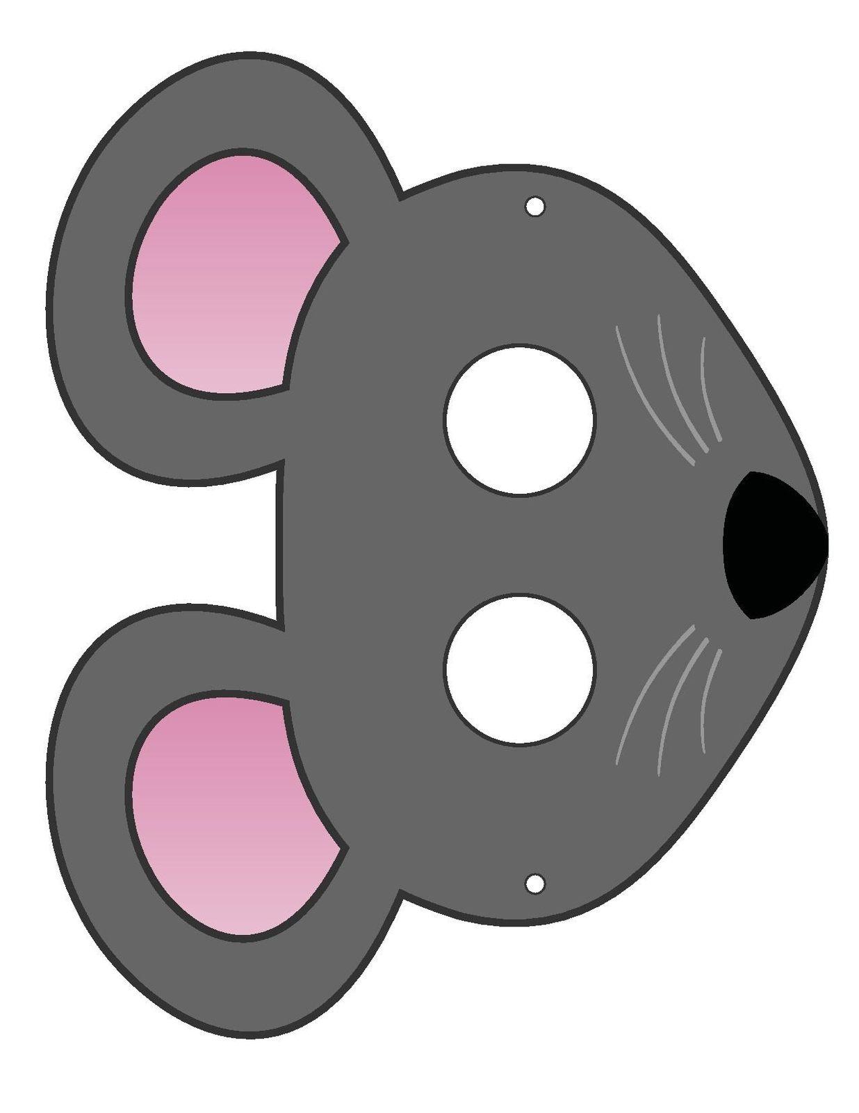 Маска Мышки на голову из бумаги - распечатай шаблон бесплатно