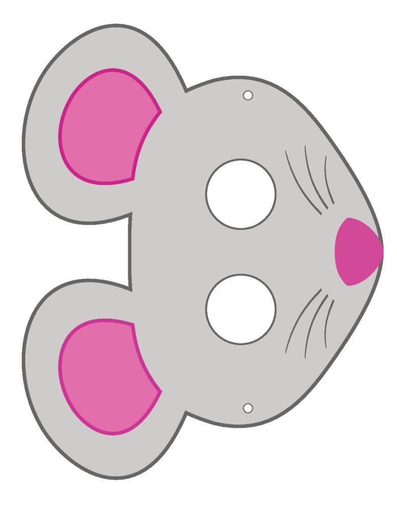 Бумажная маска Мышки