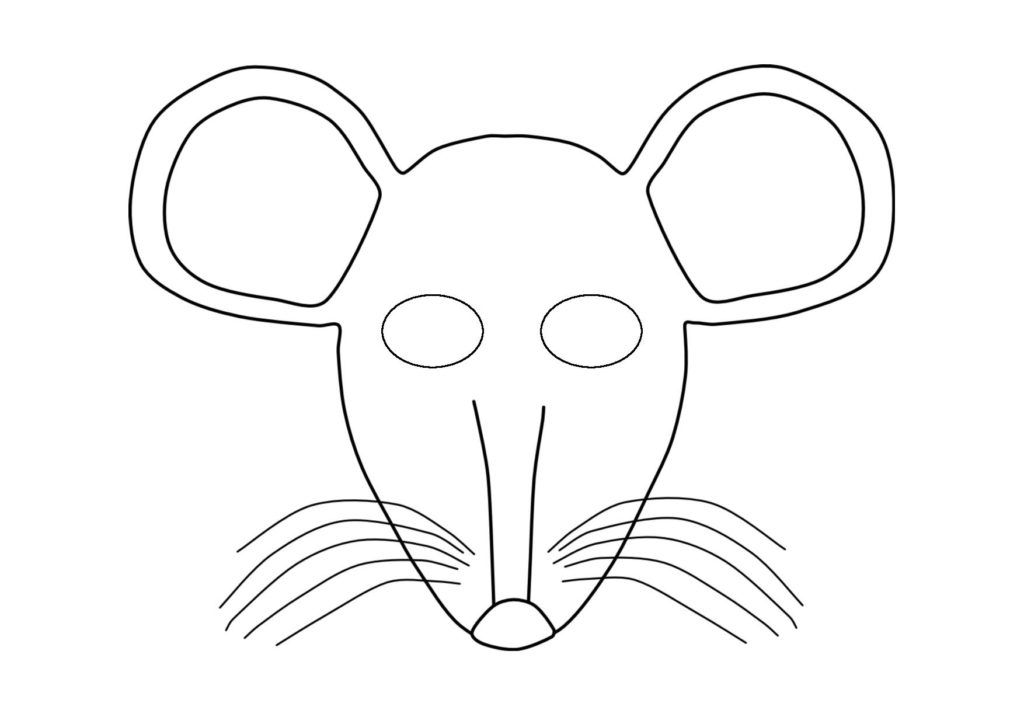 Сделать маску мышки своими руками из бумаги