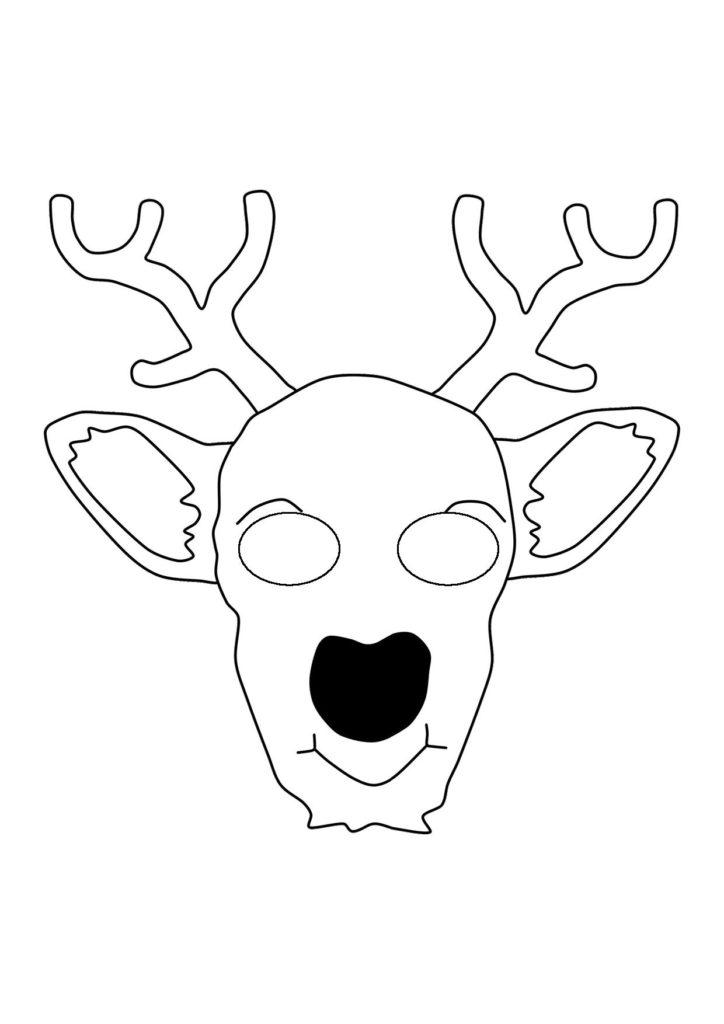 Новогодняя маска Оленя на голову