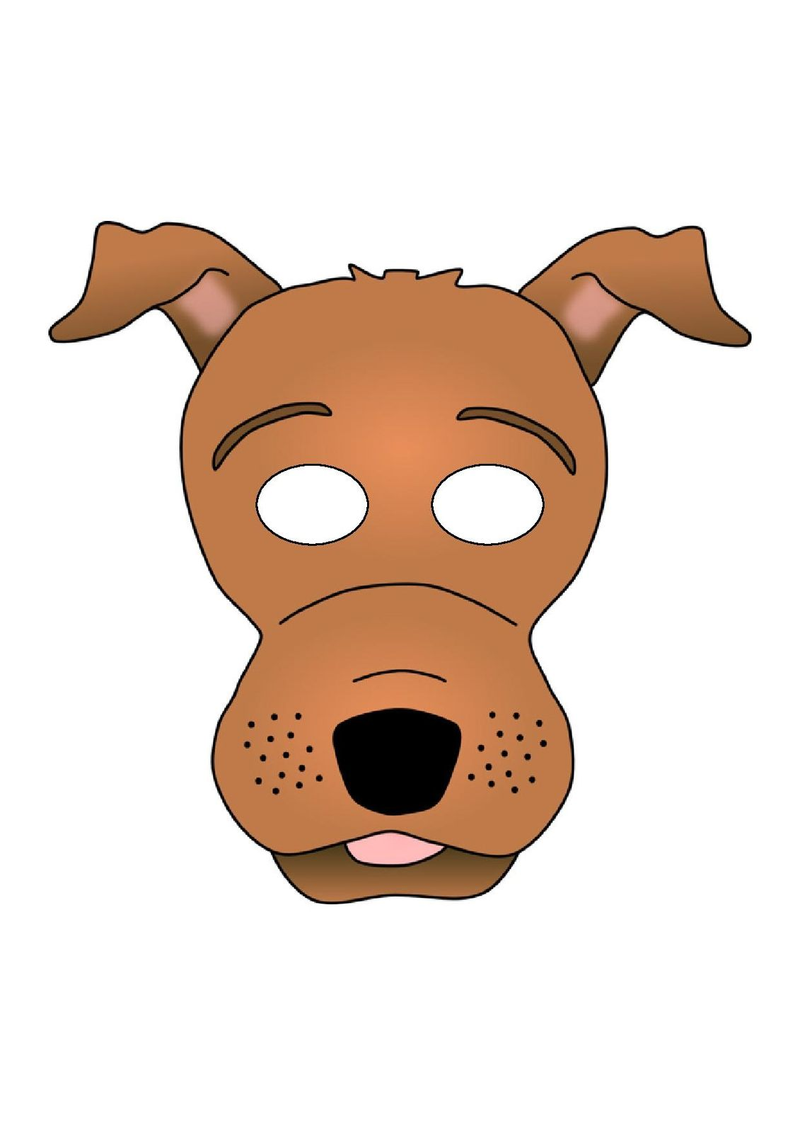 for Dog mask template for kids