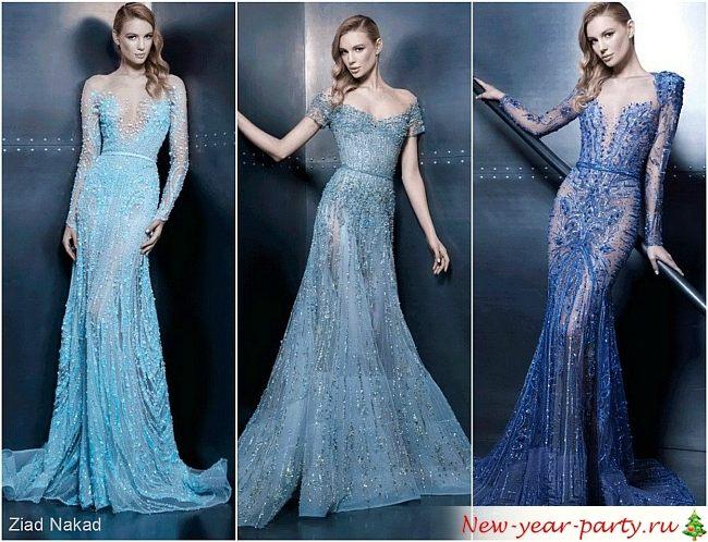 синего и голубого цвета