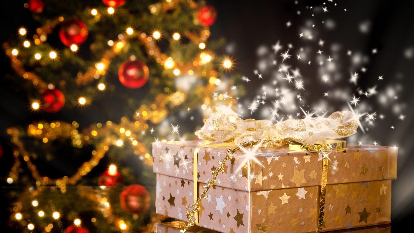 Картинки елок с подарками 45