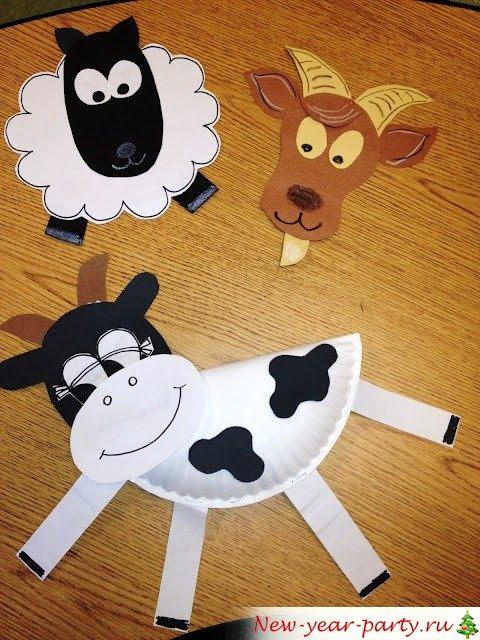 бумажные животные на Новый год