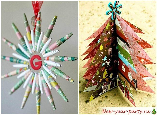 Поделки из бумаги на новый год 2016