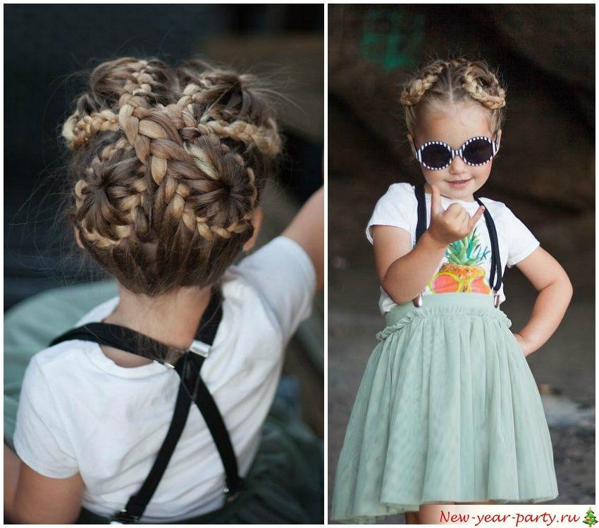 Замысловатое плетение для стильной девчонки