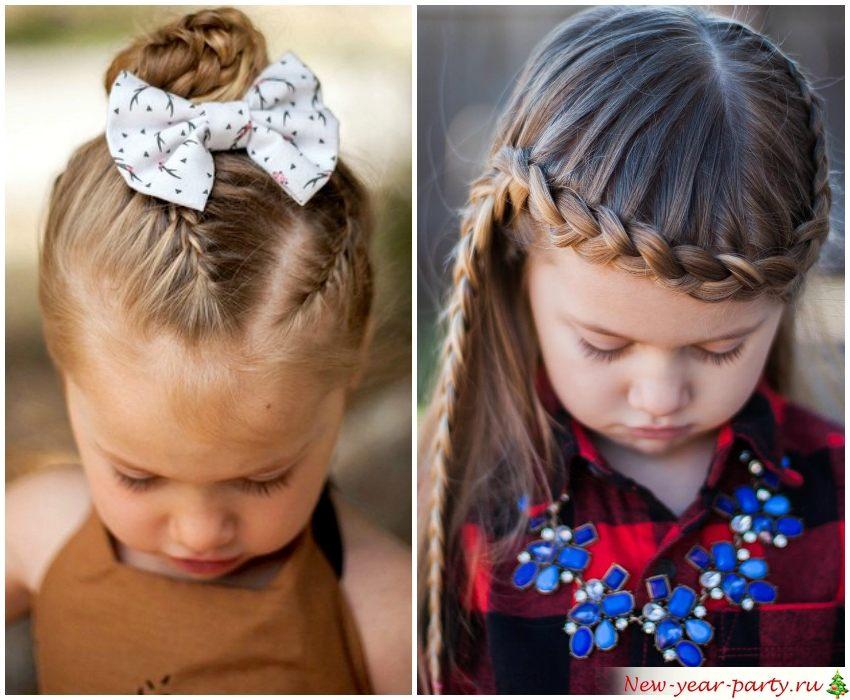 Плетение для средних волос