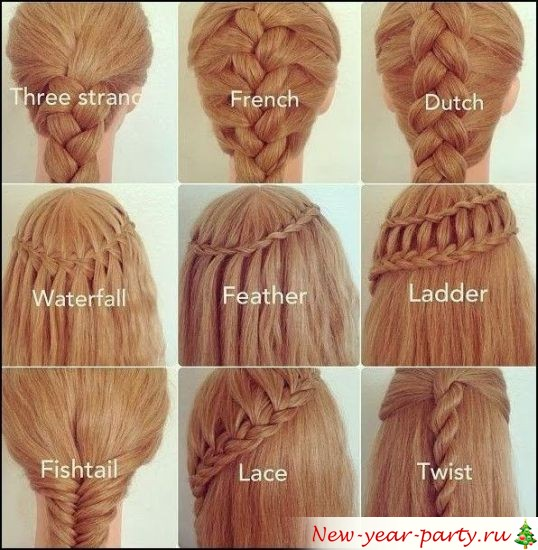способы плетения кос