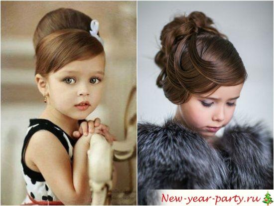Новогодние прически для девочек на средние волосы