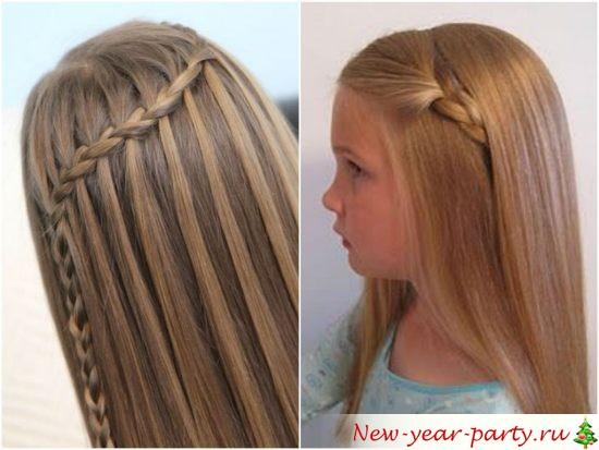 Прически на длинные волосы распущенные для девочек