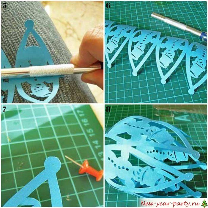 Подготовка к сшиванию фонарика