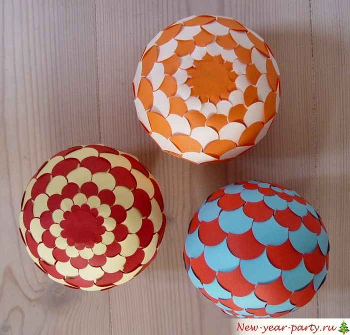 Нарядные шарики для праздника