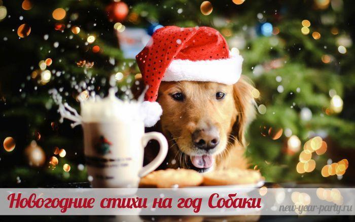 Новогодние стихи и поздравления на год Собаки 2018