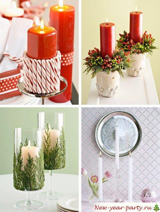 Украшаем вазу к новому году