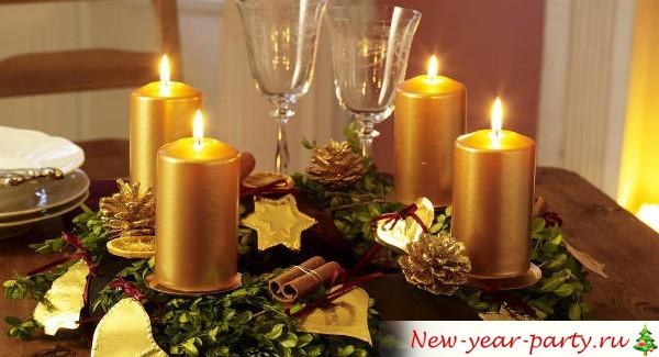 Красивые Новогодние свечи для декора