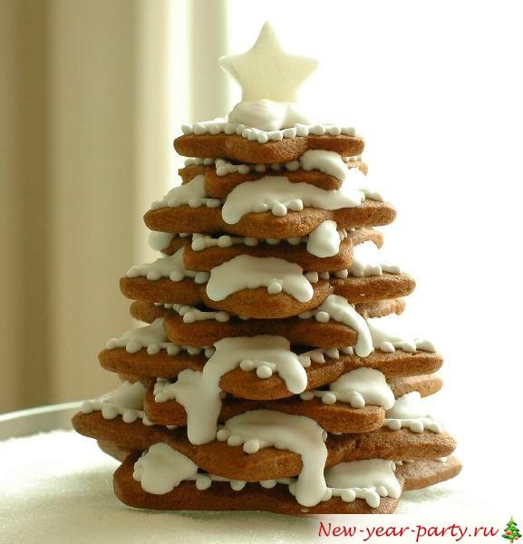 Елка из печенья, фото