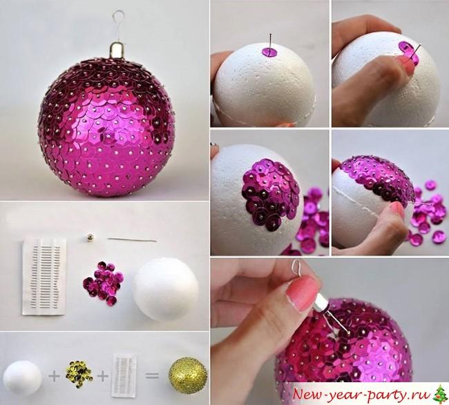 Украшение из шариков своими руками новый год