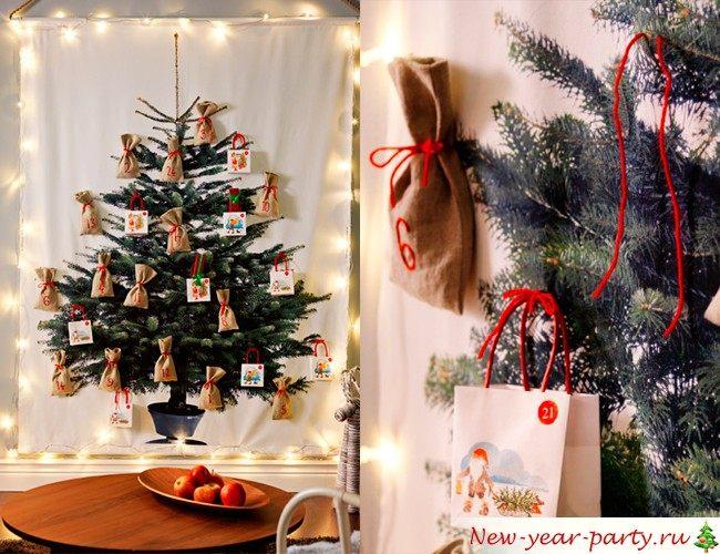 Как сделать новогоднюю экибану своими руками фото