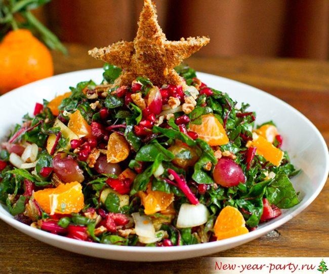 Новогодний салат без майонеза