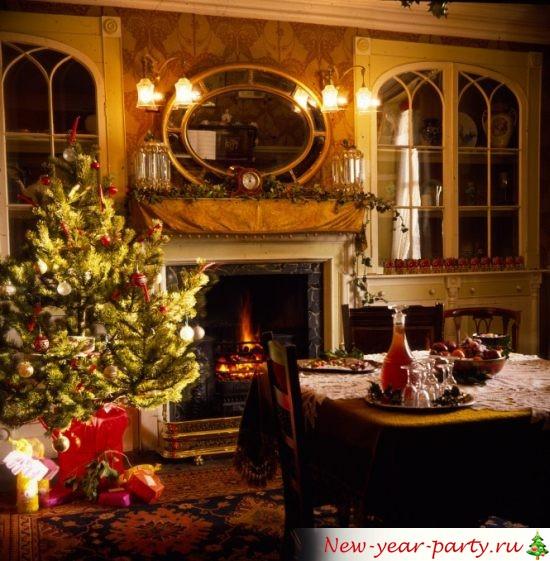 Сервировка стола и Новогодняя елка
