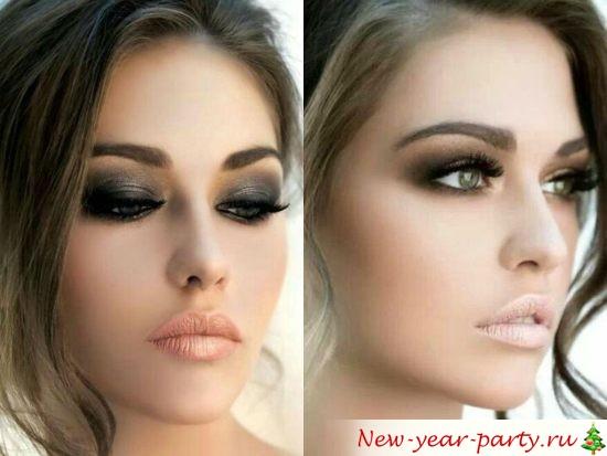 Новогодний макияж 2022, фото образ