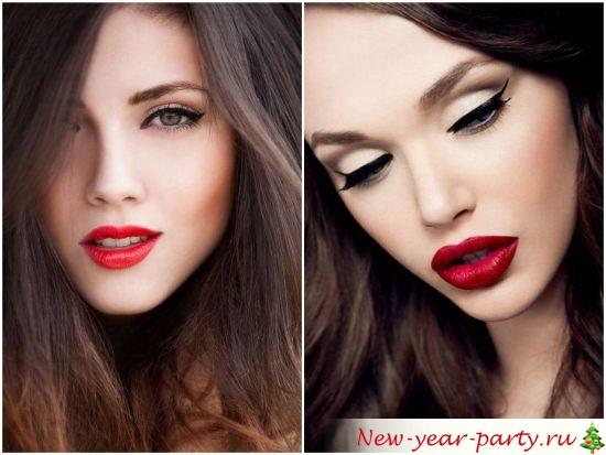Яркий макияж на Новый год 2022