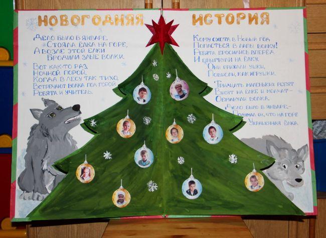 Идеи для школьного новогоднего плаката
