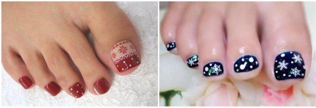 Как украсить ногти на ногах