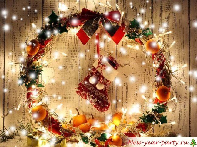 В список новогодних дел входит веночек