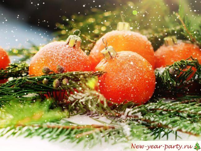 Мандарины новый год елка