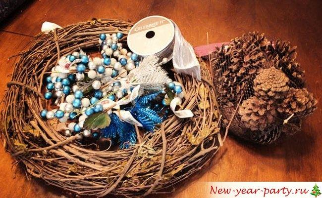 прутики, декоративные элементы